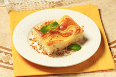 Custard cream sponge cake Stock Photos