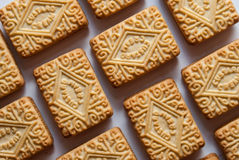 Custard creams Royalty Free Stock Images