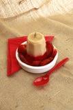 custard gelatin pustynny przyjęcie Zdjęcia Stock