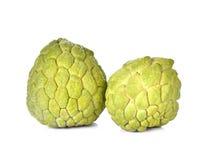 Custard jabłek owoc odosobniony biały tło obrazy royalty free