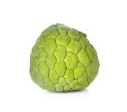 Custard jabłka owoc odosobniony biały tło fotografia stock