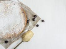 Custard kulebiak z wiśnią Obrazy Royalty Free