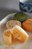 Custard Moon Cake Royalty Free Stock Photos