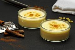 Custard puddings stock photography