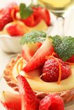 Custard tart with fruit Royalty Free Stock Photos