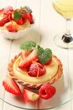 Custard tart with fruit Royalty Free Stock Image