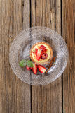 Custard tart with fruit Royalty Free Stock Photography