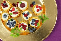 Custard tarts Stock Images