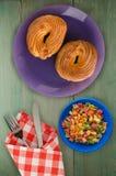 Custard tort na talerzu Obraz Stock
