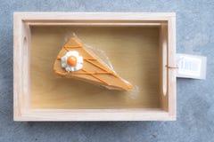 Custard tortowy lub Tajlandzki herbata tort Fotografia Royalty Free