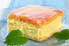 Custard (Vanilla) Slice Stock Image