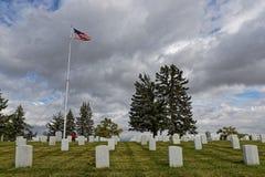 Custer National Cemetery am Little Bighorn lizenzfreie stockfotos