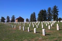 Custer National Cemetery på Little Bighornslagfältmedborgaren Royaltyfri Fotografi