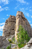 Custer State Park Rock Formation. Interesting rock formation in Custer State Park Stock Photos