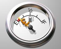 Custo da gasolina Imagens de Stock Royalty Free