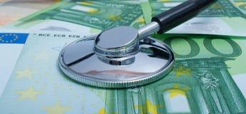 Custo da saúde. Versão com euro. Imagens de Stock