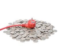 Custo de eletricidade caro Fotografia de Stock Royalty Free