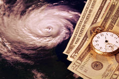 Custo de um furacão Imagens de Stock
