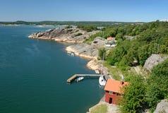 Custo do fjord do mar fotografia de stock