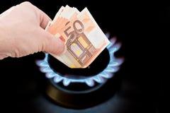 Custo do gás foto de stock