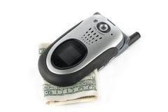 Custo do telefone de pilha Fotografia de Stock Royalty Free