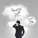 Custo e problema dos benefícios fotos de stock royalty free