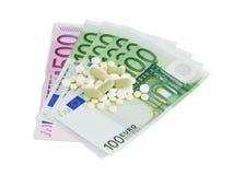Custo elevado da medicina Foto de Stock