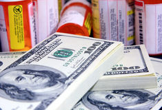 Custo elevado de meds da prescrição Imagens de Stock Royalty Free