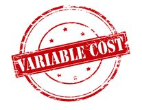 Custo variável ilustração stock