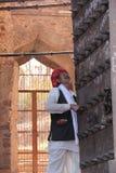 Custode della fortificazione antica nel Ragiastan fotografia stock libera da diritti
