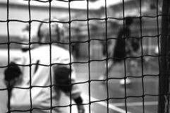 Custode di obiettivo di addestramento di Floorball Immagini Stock Libere da Diritti