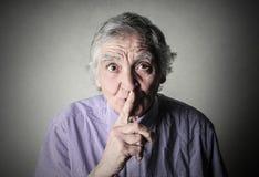 Custodia de silencio Foto de archivo libre de regalías