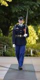 Custodia del cimitero nazionale di Arlington della tomba Immagini Stock Libere da Diritti