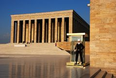 Custodia del mausoleo di Anıtkabir di Ataturk Fotografie Stock