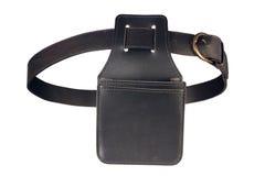 Custodia per armi di cuoio del portafoglio e una cinghia Immagini Stock