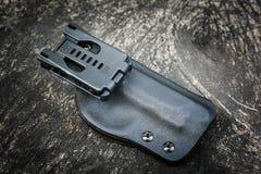 Custodia per armi di Kydex per la pistola Fotografia Stock