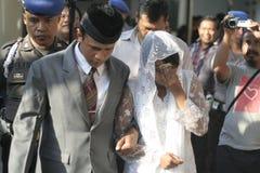 Custodia policial casada Fotos de archivo libres de regalías