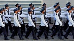 Custodire-de-honor la marcia contingente durante il NDP 2009 Fotografie Stock