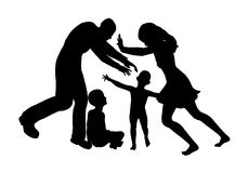 Custody Fight. Main victims are children when parents are fighting for sole custody Royalty Free Stock Images