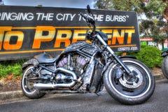 Custom American Harley Davidson motorbike Stock Photo