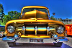 Custom American 1950`s Ford pick up truck Stock Photography