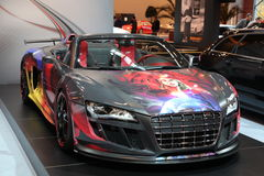 Custom Audi R8 from ABT. ESSEN - NOV 29: Audi R8 from ABT shown at the Essen Motor Show in Essen, Germany, on November 29, 2011 stock photography