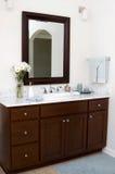 Custom bathroom. A custom bathroom vanity in a home Stock Photography