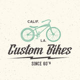 Custom Bicycle Retro Vector Label or Logo Template Royalty Free Stock Photos