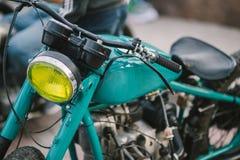 Custom bike. On motorcycle exhibition stock images