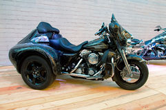 Custom bike on podium of Motorcycle Show. Stock Images
