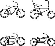 Custom Bike Simple Icon Royalty Free Stock Photography