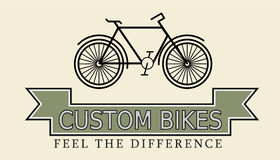 Custom bikes, vintage styled company template Stock Images