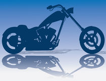 Custom Blue Chopper Stock Image