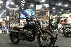 Custom british motorcycle Royalty Free Stock Photo